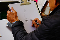 Artist Drawing Outdoors
