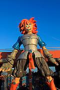 Cartoon figure at entrance to Acua Water Park, Corralejo, Fuerteventura, Canary Islands, Spain