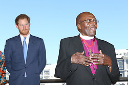 Nov. 30, 2015 - Cape Town, South Africa - Image licensed to i-Images Picture Agency. 30/11/2015. Cape Town , South Africa. Prince Harry meets Archbishop Emeritus Desmond Tutu at the offices of The Desmond & Leah Tutu Legacy Foundation in Cape Town  on day three of his tour of Lesotho and South Africa. Picture by  i-Images POOL (Credit Image: © i-Images via ZUMA Wire)