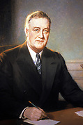 Henry Salem Hubbell (1870-1949), US President Franklin Delano Roosevelt,1935