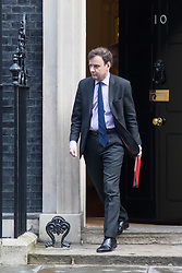 Downing Street, London, February 2nd 2016. .Chief Secretary to the Treasury Greg Hands leaves No 10 after attending the weekly Cabinet meeting. ///FOR LICENCING CONTACT: paul@pauldaveycreative.co.uk TEL:+44 (0) 7966 016 296 or +44 (0) 20 8969 6875. ©2015 Paul R Davey. All rights reserved.
