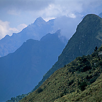 Hidden deep in Peru's rugged Cordillera Vilcabamba mountains, Cerro Victoria (right) was once an Incan ceremonial site of unknown purpose.
