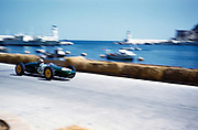 Formula One motor racing Monaco Grand Prix 1961 Innes Ireland in Lotus-Climax after chicane