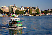 Harbor Ferry Boats in the Inner Harbour, Victoria, Vancouver Island, British Columbia, Canada.