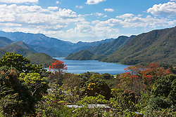 Lake surrounded by mountains, Guanaguana, Venezuela
