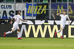 January 21, 2018 - Rome, Italy - Olympic Stadium, MILAN, Italy - 21/01/2018..Stephan El Shaarawy (R) of Roma celebrating hi goal against Inter Milan during their Italian Serie A soccer match...Credit: Giampiero Sposito/Pacific Press (Credit Image: © Giampiero Sposito/Pacific Press via ZUMA Wire)
