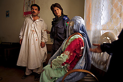 """Kandahar policewoman Malalai Kakar arrests a man who repeatedly stabbed Jamila, his 15-year-old wife and mother of his two children after she disobeyed him. When asked what would happen to the husband for this crime, """"Nothing,"""" Kakar said. """"Men are kings here.""""<br /> Policewoman Kakar was later killed by the Taliban."""