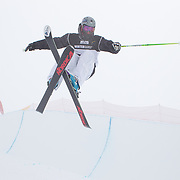 Yannic Lerjen, Switzerland, in action during the Freeski Halfpipe event at the Winter Games at Cardrona, Wanaka, New Zealand. 17th August 2011. Photo Tim Clayton...