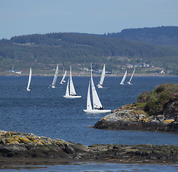 Clyde Cruising Club's Scottish Series 2019<br /> 24th-27th May, Tarbert, Loch Fyne, Scotland<br /> <br /> Day 1 - Perfect conditions to start the 45th Series.<br /> <br /> Credit: Marc Turner / CCC