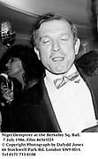 Nigel Dempster at the Berkeley Sq. Ball. 7 July 1986. Film 86565f25<br />© Copyright Photograph by Dafydd Jones<br />66 Stockwell Park Rd. London SW9 0DA<br />Tel 0171 733 0108