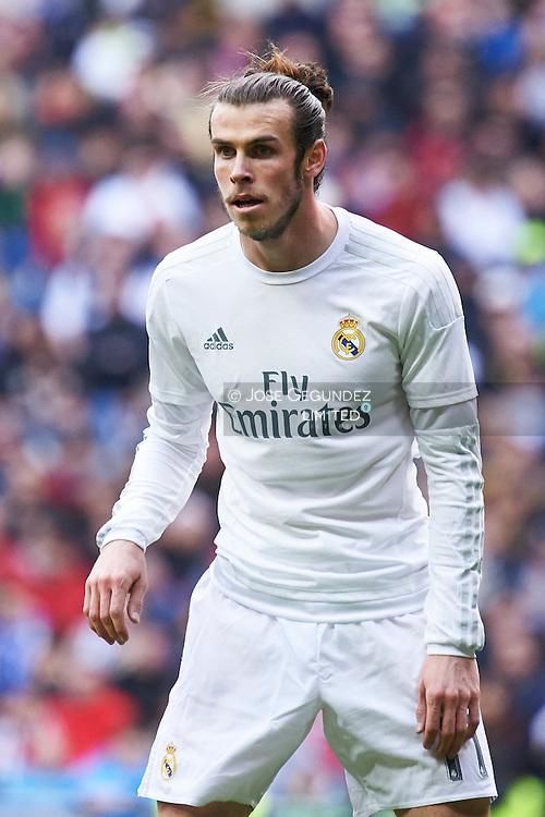Gareth Bale (midfielder; Real Madrid) in action during La Liga match between Real Madrid and Celta de Vigo at Santiago Bernabeu on March 5, 2016 in Madrid