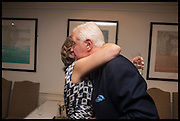 HON MRS. CAROLINE STANLEY; SIR BENJAMIN SLADE, The hon Alexandra Foley hosts drinks to introduce ' Lady Foley Grand Tour' with special guest Julian Fellowes. the Sloane Club. Lower Sloane st. London. 14 May 2014