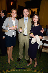 Left to right, HARRIET BASTIDE and ROGER & HANNAH WIDDECOMBE at a party to celebrate the publication of Strictly Ann by Ann Widdecombe held at the Carlton Club, 69 St.James's Street, London on 6th June 2013.