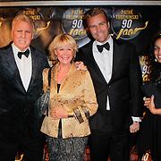 NLD/Amsterdam/20111028- Gala 90 jarig bestaan Theater Tuschinski, Sheila de Vries, partner en zoon Gideon met partner