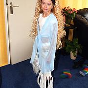 Linda Janssen verkleed als Shakira voor de carnaval