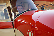 Mathew Northway in his Interstate Cadet, NC37369, at Creswell Airport.