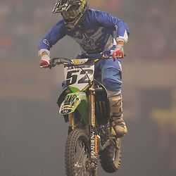 14 March 2009: Robert Kiniry (52) rides in a qualifying heat during the Monster Energy AMA Supercross race at the Louisiana Superdome in New Orleans, Louisiana