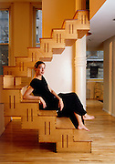 Michele Doner, an artist and author in her Mercer Street loft in New York City.