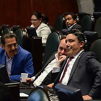 Toluca, México.- (Abril 06, 2017).- Cruz Juvenal, Diputado Local por el PRI, durante la sesión ordinaria de la cámara de diputados en el Estado de México. Agencia MVT / Arturo Hernández.
