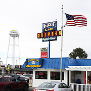 The C&D Drive-In in Boardman, home of the Bozo Burger and tasty milkshakes.