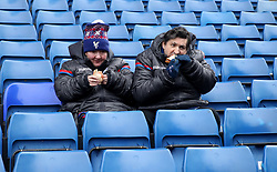Crystal Palace fans in the stands prior to the Premier League match at Selhurst Park, London.
