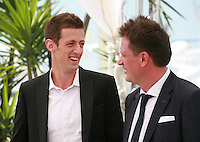Actor Dado Cosic and Director Dalibor Matanic at the Zvizdan (The High Sun) film photo call at the 68th Cannes Film Festival Sunday 17th May 2015, Cannes, France.