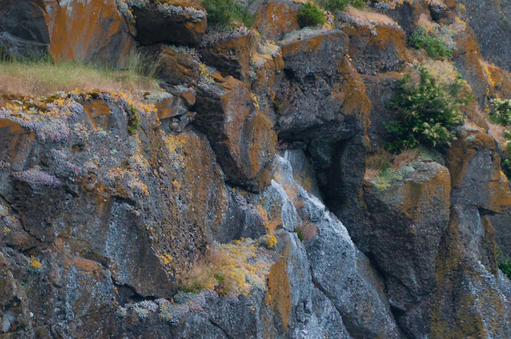 Cliffs of Stuart Island, San Juan Islands, Washington, US