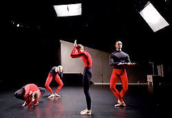 Julie Cunningham and Company<br /> Double Bill<br /> at The Pitt, Barbican Theatre, London, Great Britain <br /> 8th March 2017 <br /> <br /> Julie Cunningham <br /> Harry Alexander<br /> Alexander Williams<br /> Hannah Burfield<br />  <br /> Award-winning dancer and nominee of the 2016 Critics' Circle National Dance Award for Emerging Artist, Julie Cunningham launches her newly formed company, and makes her Barbican choreographic debut with an expressive double bill about gender and identity.<br />  <br /> <br /> Piece 2: To Be Me <br /> <br /> <br /> Photograph by Elliott Franks <br /> Image licensed to Elliott Franks Photography Services