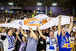 Supporters of Rogaska during basketball match between KK Union Olimpija and KK Rogaska in 2nd Final game of Liga Nova KBM za prvaka 2016/17, on May 19, 2017 in Hala Tivoli, Ljubljana, Slovenia. Photo by Vid Ponikvar / Sportida