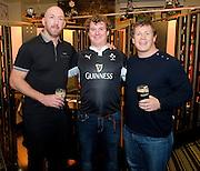 Liam Breathnach with Trevor Brennan  and Paul Wallace  at the Guinness Area22 event in the Carlton Hotel Galway..