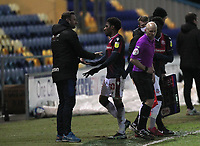 Bolton Wanderers Manager Ian Evatt takes off Bolton Wanderers Oladapo Afolayan<br /> <br /> Photographer Mick Walker/CameraSport<br /> <br /> The EFL League 2 - Mansfield Town v Bolton Wanderers  - Wednesday 17th February  2021 - One Call Stadium-Mansfield<br /> <br /> World Copyright © 2020 CameraSport. All rights reserved. 43 Linden Ave. Countesthorpe. Leicester. England. LE8 5PG - Tel: +44 (0) 116 277 4147 - admin@camerasport.com - www.camerasport.com