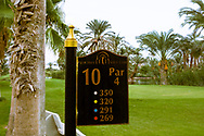 07-10-2015 -  Foto van Holebord bij PalmGolf Marrakech Palmeraie in Marrakech, Marokko. PalmGolf Marrakech Palmeraie was het eerste golfresort in Marokko. De 27-holes golfbaan  werd ontworpen door Robert Trent Jones Sr en valt onder het management van Troon Golf.