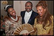 CUPPY OTEDOLA; ; FEMI OTEDOLA; CARMEN OTEDOLA;  Florence Heoluwa 'Cuppy' Otedola Marie Antoinette Graduation party. Mandarin Oriental, Knightsbridge25th of July 2014.
