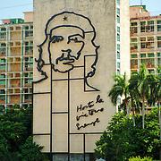 The iconic image of Che Guevara at the Plaza de la Revolución