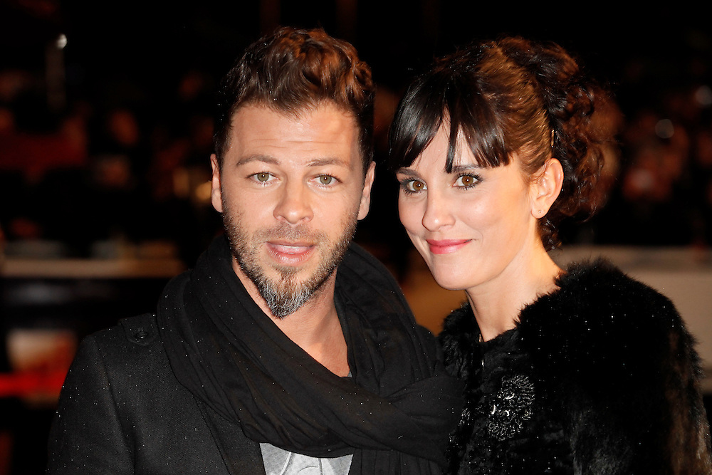 Christophe Mae and his wife Nadege pose as they arrive at NRJ Music Awards 2012 at Palais des Festivals on January 28, 2012 in Cannes.Christophe Mae et son épouse Nadège posent à leur arrivée au NRJ Music 2012 Prix au Palais des Festivals le Janvier 28 2012 à Cannes.