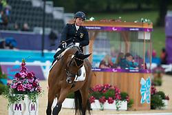 Trabert Angelika (GER) - Ariva Avanti<br /> Team Test - Grade II - Dressage <br /> London 2012 Paralympic Games<br /> © Hippo Foto - Jon Stroud