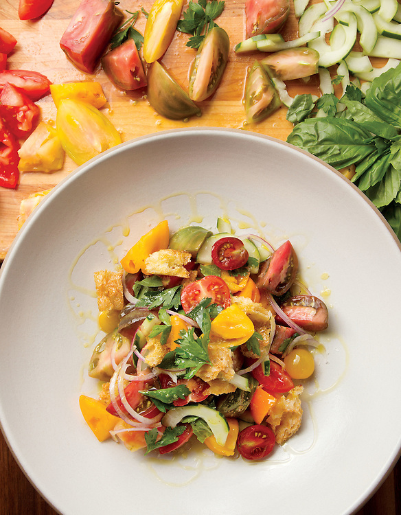 Heirloom tomatoe salad from Little Eater in the North Market. (Will Shilling/Crave)