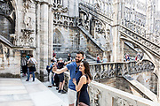 Milan, up on the Duomo Terraces