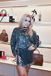 Tallia Storm at a party to celebrate the launch of the new Furla Flagship store, 71 Brompton Road, London England. 2 February 2017.