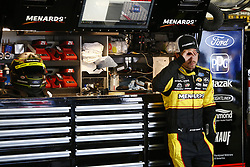July 20, 2018 - Loudon, New Hampshire, United States of America - Ryan Blaney (12) hangs out in the garage during practice for the Foxwoods Resort Casino 301 at New Hampshire Motor Speedway in Loudon, New Hampshire. (Credit Image: © Justin R. Noe Asp Inc/ASP via ZUMA Wire)