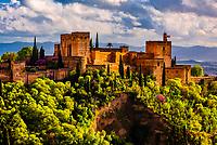 The Alhambra palace, Granada, Granada Province, Andalusia, Spain.