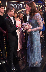 The Duke and Duchess of Cambridge attend the Royal Variety Performance at the Palladium Theatre, London, UK, on the 24th November 2017. Picture by Eddie Mulholland/WPA-Pool. 24 Nov 2017 Pictured: Louis Tomlinson, Catherine, Duchess of Cambridge, Kate Middleton. Photo credit: MEGA TheMegaAgency.com +1 888 505 6342