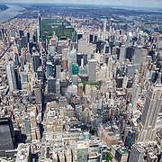Aerial footage shows a New York City that looks virtually empty with closed businesses and limited traffic due to the Coronavirus (Covid-19) outbreak along with the continuing protests due to the police killing of George Floyd on Monday, June 1, 2020 in New York City.  Nonessential businesses have been closed and large gatherings have been banned across the state since March 22 under an emergency order issued by Governor Cuomo and an 11 p.m. curfew was ordered by NY Mayor Bill de Blasio amid the Floyd protests. (Alex Menendez via AP)