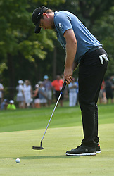 August 12, 2018 - St. Louis, Missouri, U.S. - ST. LOUIS, MO - AUGUST 12: Eddie Pepperell puts on the #1 green during the final round of the PGA Championship on August 12, 2018, at Bellerive Country Club, St. Louis, MO.  (Photo by Keith Gillett/Icon Sportswire) (Credit Image: © Keith Gillett/Icon SMI via ZUMA Press)