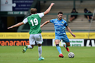Jordan Moore-Taylor (15) of Forest Green Rovers on the attack during the Pre-Season Friendly match between Yeovil Town and Forest Green Rovers at Huish Park, Yeovil, England on 31 July 2021.