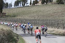March 9, 2019 - Siena, Italy - Cyclists pictured at the Strade Bianche one day cycling race in Siena, Italy, Saturday 09 March 2019...BELGA PHOTO YUZURU SUNADA (Credit Image: © Yuzuru Sunada/Belga via ZUMA Press)
