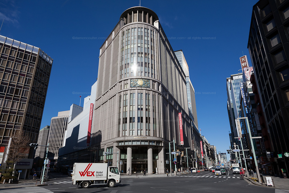 The famous Mitsukoshi Department Store in Nihonbashi, Tokyo, Japan. Friday, January 10th 2014