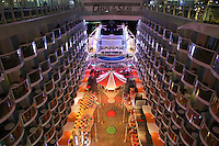 The launch of Royal Caribbean International's Oasis of the Seas, the worlds largest cruise ship..View of the Board Walk looking down to the Aqua Theater
