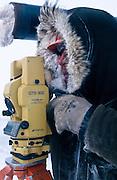 Alaska. Badami oil development project. Apporx 35 miles west of ANWR. Surveyor Badami Pipeline to Prudhoe Bay. -10F