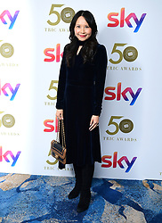 Ching He Huang attending the TRIC Awards 2019 50th Birthday Celebration held at the Grosvenor House Hotel, London.